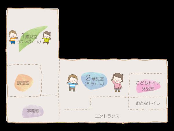 新松戸はもにか保育園 施設マップ
